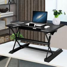 Bureau d'ordinateur assis-debout réglable en hauteur avec plateau de clavier