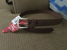 Tony Lama Men's Navajo Blanket sz 36 leather belt  New with tags brown