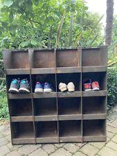 More details for vintage industrial pigeon hole shoe rack storage