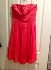 Wish size 6 red strapless dress Bnwot