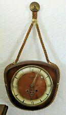 Vintage W. Schlenker Anker Hanging Boat Spring Wind German Clock