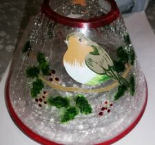 Yankee Candle Large Jar Christmas Shade With Robins and Holly AF