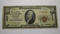 $10 1929 Passaic New Jersey NJ National Currency Bank Note Bill Ch. #12205 FINE!
