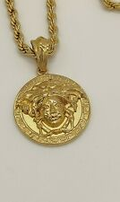 HIP HOP 18KT YELLOW GOLD PLATED HEAVY MEN RUN DMC BLING ROPE NECKLACE VERSACE