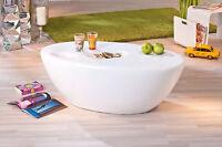 Table basse table de salon d´appoint moderne design oval BLANC BRILLANT