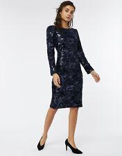 Monsoon Rafaela Embellished Velvet Sequin Dress Size Uk 12 rrp £109 LS172 OO 06