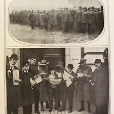 a1r ephemera 1916 ww1 picture bank of england people queue to buy war loans