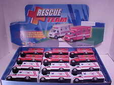 12 pack EMT Ambulance Fire Dept 1:50 Kinsfun 5 inch Emergency Rescue