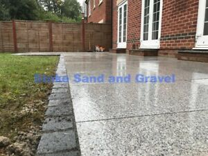 Silver Grey Granite Paving Slabs 20mm Mixed Sixes 16.5m2 Pack Flamed Surface