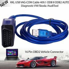 For VAG.COM KKL 409.1 OBD2 USB Cable & 1 x CD Software USB VAG interface cable