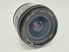 Minolta Maxxum AF 24mm F2.8 Prime Lens w/ Rear Cap - Minolta/Sony A Mount *READ*