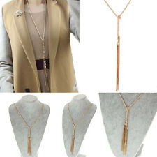 Gold Tassel Long Chain Pebble Necklace Long Design Necklaces Trendy Jewelry
