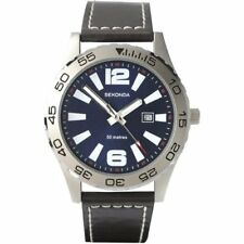 Sekonda 3252 Gents Leather Upper Date 50m Watch 2 Year Sekonda Warranty