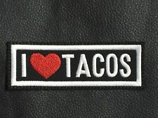 I Love Tacos Sew On Patch ♥ Motorcycle Vest WTF FTW Biker Club MC Harley HD