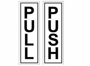 Push & Pull – Door Sticker Sign/Door Stickers (BLACK)