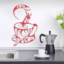 Coffee Design Wall Sticker Wall Decal PVC Vinyl 15 X 26 Inch