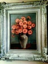 Magnifico dipinto ''Vaso con fiori'', olio su tela /stupenda cornice antica