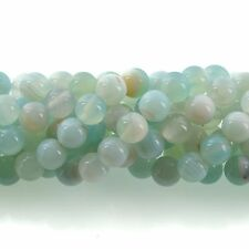 10mm Round BLUE GREEN  AGATE Beads, smooth, full strand, 38 beads, gag0356