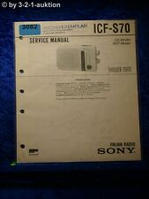 Sony Service Manual ICF S70 Radio (#3082)
