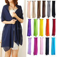 Multiple Long Soft Thin Synthetic Scarf Shawl Wrap Lady Birthday Valentine Gift
