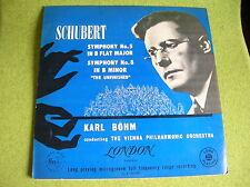 LP SCHUBERT-SYMPHONY 5 & 8-KARL BOHM-LONDON JAPAN PRESS LLA 10140