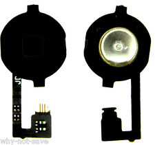 Replacement home menu button Part with flex cap for IPHONE 4S A1387 A1431 black