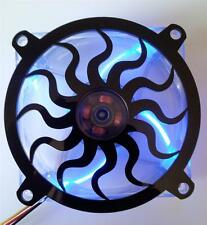Custom 80mm SUN SPIRAL Computer Fan Grill Gloss Black Acrylic Cooling Cover Mod