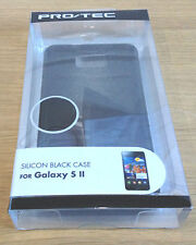 Samsung Galaxy S2 II Black Silicon Case