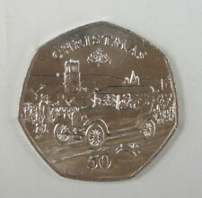 Isle Of Man Coin 50 Pence, 1983, Uncirculated, Christmas Ford Model T Car