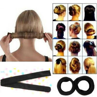 Women Girl Hair Styling Donut Former Foam French Twist Bun Hair Maker Tools DIY