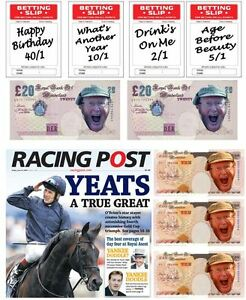 Horse Racing Theme Racing Post/Betting/ Funny Muney Edible Icing Cake Decoration
