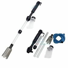 Battery-Powered Gravel Cleaner Aquarium Fish Tank Siphon Vacuum Water Change NEW
