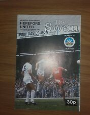 SWANSEA CITY V HEREFORD UNITED 9TH FEBRUARY 1983 WELSH CUP QUARTER FINAL
