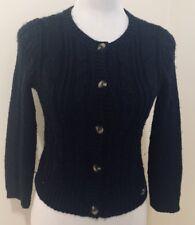 Ladies HOLLISTER Navy Blue Wool Blend Crop Cardigan. Size XS