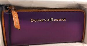 NWT*Dooney & Bourke*City Leather*PURPLE* SLIM Wallet*#18288J S177