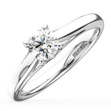 0.25CT Round Diamonds Solitaire Engagement Ring in 18K Gold
