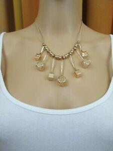 Halskette, Collier, Kette, goldfarbig, Modeschmuck, Vintage - 4 RL