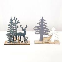 Xmas Wooden Santa Claus Elk Snowman Festival Ornament Home Decor Christmas Gift