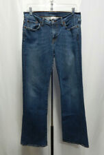 Lucky Brand Dungarees Women Jeans 12 Low Rise Flare Wide Leg Measures Sz 33X30.5