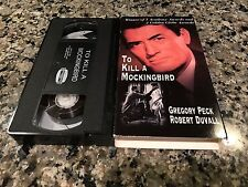 To Kill A Mocking Bird VHS! 1962 Murder Mystery! Crash Casablanca Stir To Kill