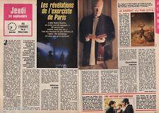 Coupure de presse Clipping 1987 L'exorciste de Paris l abbé Gauthier (2 pages)