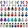 Women Flower Crystal Rhinestone Drop Dangle Stud Earrings Wedding Party Jewelry
