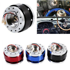 Aluminium Car Steering Wheel Quick Release Hub Adapter Snap Off Boss Kit Black (Fits: Dodge Shadow)