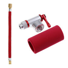 Bicycle Tire Air CO2 Inflator Pump Valve Head and 16.5cm Pump Extension Hose