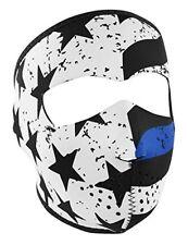 Thin Blue Line Star White Black Neoprene Full Face Mask ATV Biker Snowmobile Ski