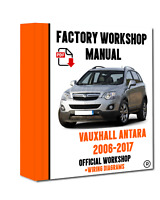 OFFICIAL WORKSHOP Manual Service Repair Vauxhall Antara 2006 - 2017