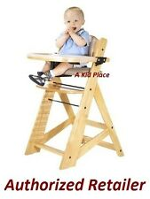 KEEKAROO CHILDREN'S HEIGHT RIGHT ADJUSTABLE WOODEN BABY HIGH CHAIR AND TRAY NEW
