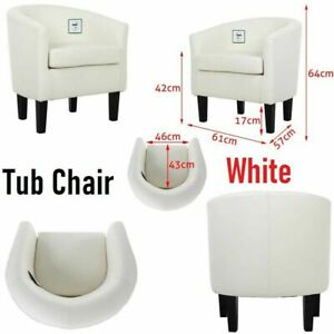 NEW Faux Leather PU Tub Chair Armchair Dining Room Modern Office Furniture Sofa