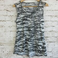 Balance Collection Womens Sz Small Athletic Tank Top Black White Print Running