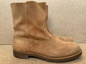 Excellent Vintage Work Masters Sears Rough Out Suede Brown Mens Boots-Sz 10.5 D